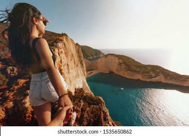 Greece, Zakynthos,Panoramic view, Follow me