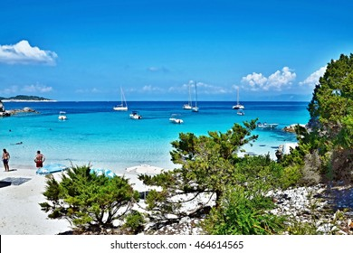 Greece,island Antipaxos-view of the Vrika beach