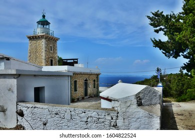 Greece,island Paxos-view of the lighthouse near Lakka