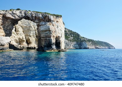 Greece,island Paxos-view of the Tripitos arch