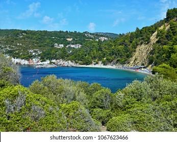 Greece-outlook on the seacoast near town Skopelos on Skopelos Island
