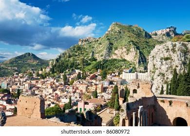 Greek Amphitheatre in Taormina, Sicily