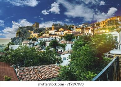 Greek Architecture Details Greece Small Village Greek Town Traditional houses of Chora capital of Samothraki
