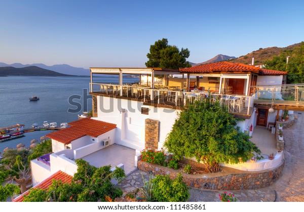 Greek architecture at Mirabello Bay on Crete