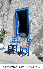 Greek atmosphere, traditional tavern in Kardamena, Kos island