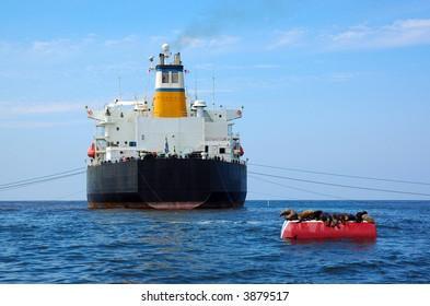 Greek Cargo Ship Anchored in U.S. Waters