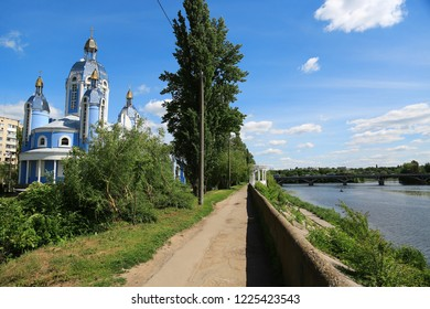 Greek Catholic Church of the Protection of Holy Virgin near the Southern Bug river in Vinnytsia city, Ukraine