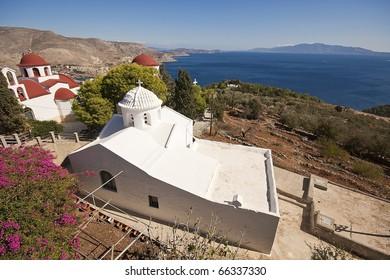 Greek church in Kalymnos island, Egeo.