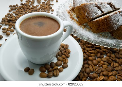 Greek coffee and cake