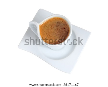 Greek Coffee Isolated On White Background Stock Photo Edit