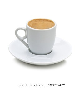 greek coffee in a white cup isolated on a white background(path included)