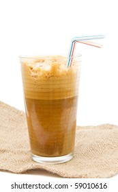 Greek cold coffee - frappe isolated on white