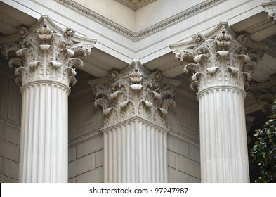Greek Column detail of National Archives
