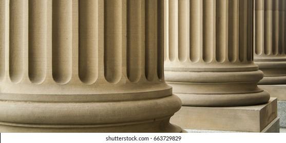 Greek columns at the Alberta Legislature, Edmonton, AB, Canada
