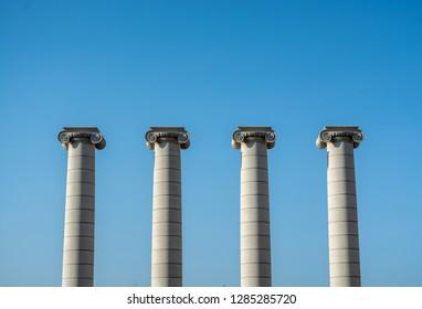 Greek columns architecture