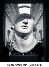 Greek Cutout Statue