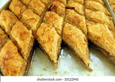 Greek delicatessen - baklava sweet