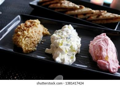 Greek Dips and Pita Bread