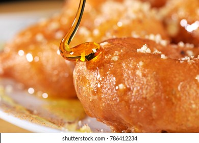 GREEK DONUT WITH SYRUP OR CHOCOLATE