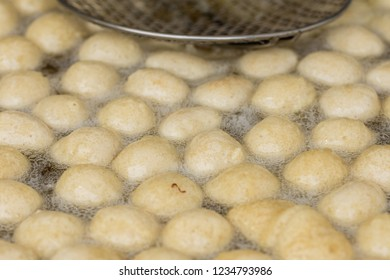 Greek donuts in oil ,Traditional turkish pastry: Lokma