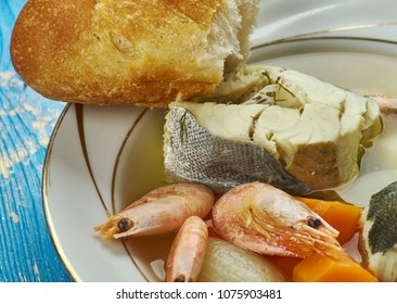 Greek Fisherman Stew, traditional soup made by many in Greece