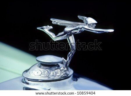 Greek God Mercury On Car Hood Stock Photo Edit Now 10859404