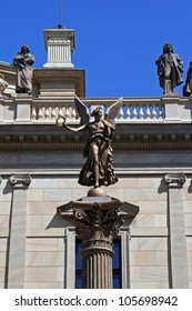 Greek goddess statue. Nike goddess statue.