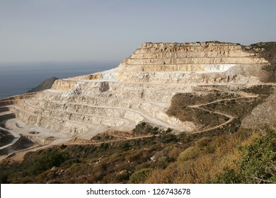 A Greek Gypsum Quarry, a mineral used to manufacture Plaster of Paris