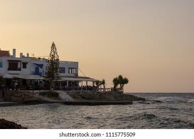 Greek harbor tavern