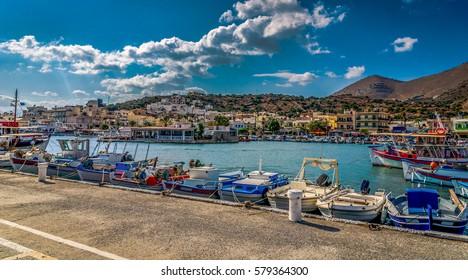 Greek Hersonissos ship bay