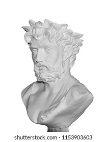 Greek human man head isolated on white background. This has clipping path.