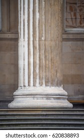 Greek Ionic columns, the ancient art of architecture.