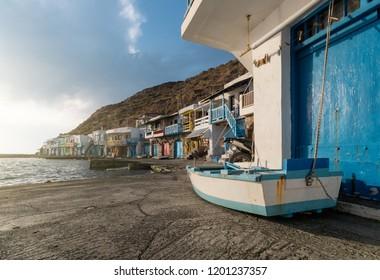 Greek island port