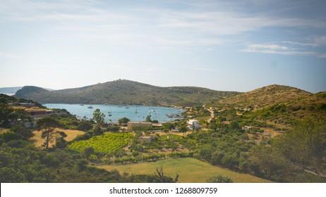 Greek landscape in the spring time
