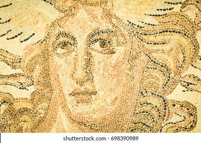 Greek mosaic in Athens, Greece