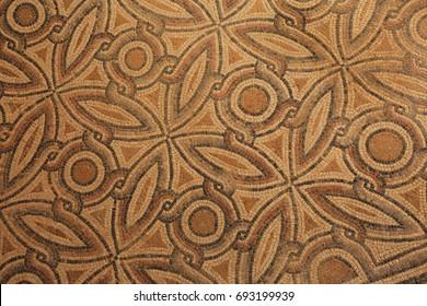 Greek mosaic found during excavations in Zippori, Israel