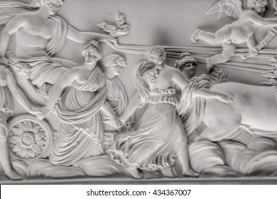Greek mythology relief