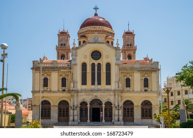 The greek orthodox Agios Minas Cathedral in Heraklion at the island of Crete, seat of the Archbishop of Crete