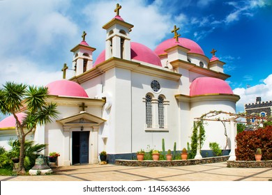 The Greek Orthodox Church of the Holy Apostles or Church of the Apostles church at the centre of the Greek Orthodox Monastery at Capernaum near the shore of the Sea of Galilee in Israel