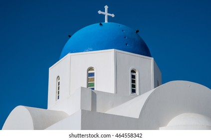 Greek orthodox church in Oia on the island of Santorini