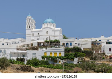 A Greek orthodox church at Sifnos, Greece