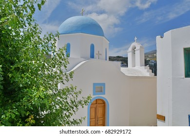 Greek Orthodox Church with typical blue dome