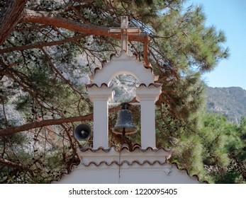 Greek Orthodox Monastery bell at the Agios Georgios Monastery, Sissi, NE Crete.