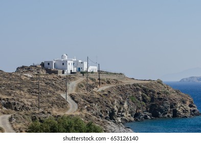 A Greek orthodox monastery by the sea, Sifnos, Greece
