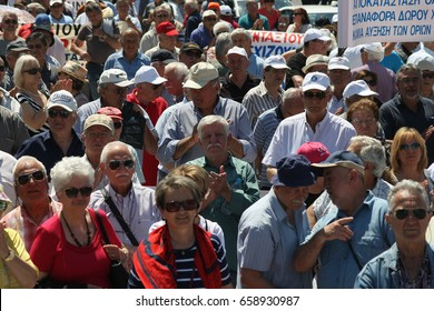 Greek Pensioners protest against Government's austerity policy in Thessaloniki , June 13, 2017