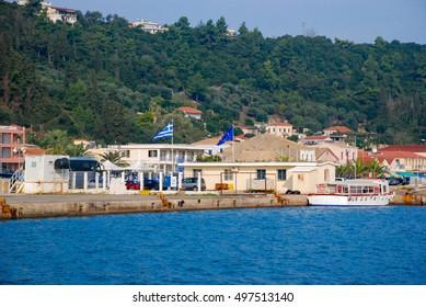 Greek port on the island of Katakolon, Greece