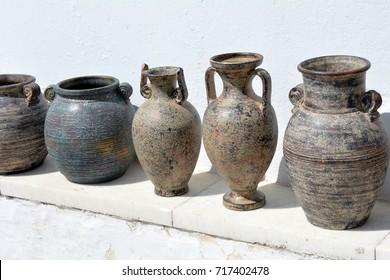 Greek pottery. Ancient vases