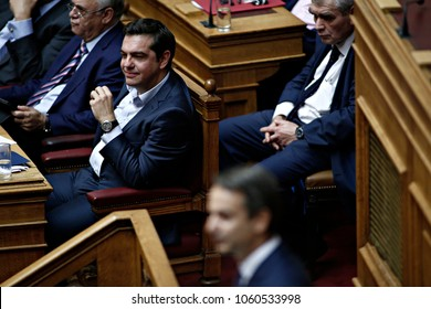 Greek Prime Minister Alexis Tsipras attends in debate in the plenary of Greek parliament about corruption in Athens, Greece on Oct. 10, 2016