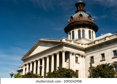 A Greek Revival style building is dedicated to the government workings of South Carolina