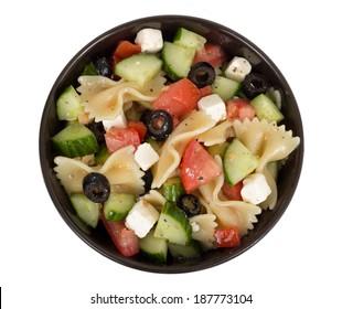 greek salad isolated on white